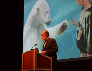"Arctic Action Teams' Robert Buchanan appeals to delegates to be ""heroes for future generations"""